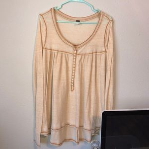 Free People we the Free waffle Henley top M
